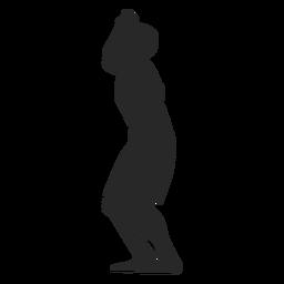 Bereite Position des männlichen Volleyballspielers