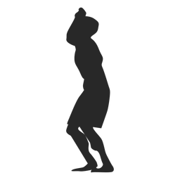 Male volleyball player ready position