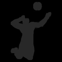 Männliches Volleyballspielerschattenbild