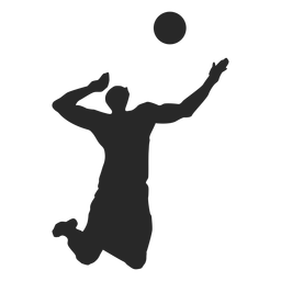 Male volleyball player silhouette