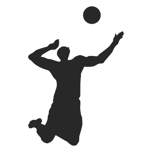 Silhueta de jogador de vôlei masculino Transparent PNG