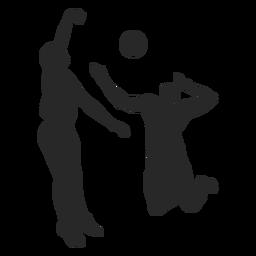Silueta masculina de voleibol