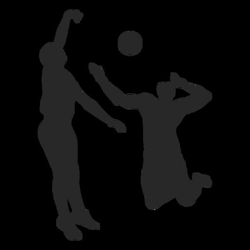 Silhueta de jogadores de vôlei masculino Transparent PNG