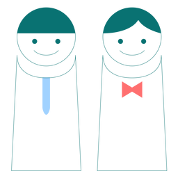 Vector de estilo de línea masculina y femenina