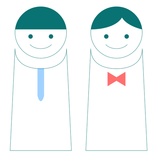 Male and female line style vector