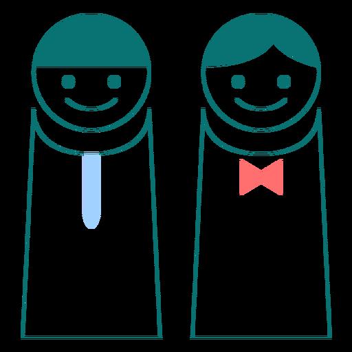 Vector de estilo de línea masculina y femenina Transparent PNG