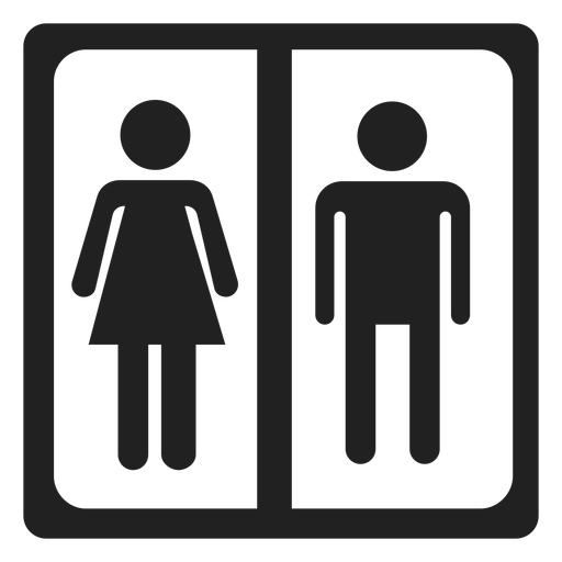 Male and female sign square icon Transparent PNG