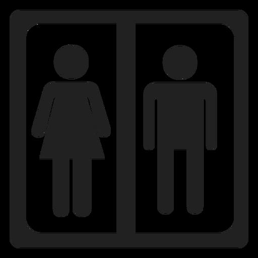 Masculino e Feminino assinar ícone quadrado Transparent PNG