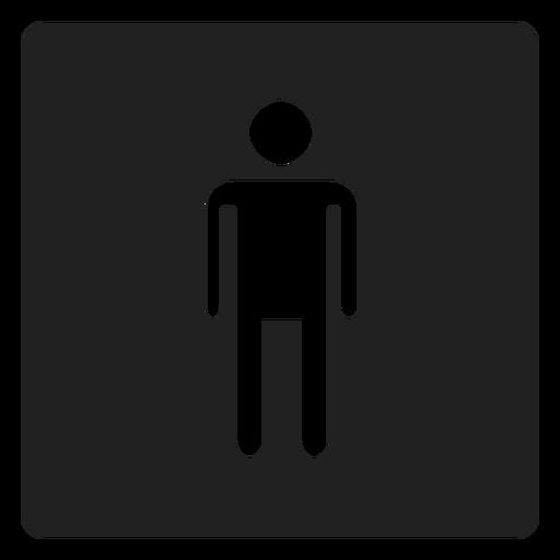 Männliches Geschlecht Quadrat Symbol Transparent PNG