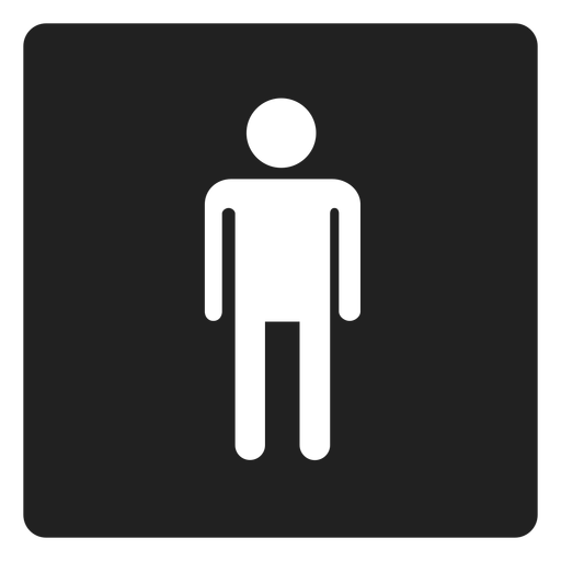 Male gender square icon Transparent PNG