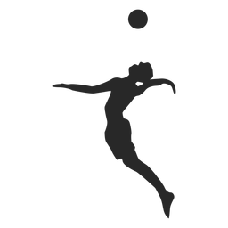 Man jump serve silhouette