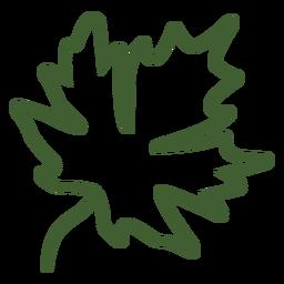 Icono de otoño de hoja de arce