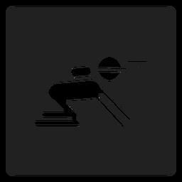 Icono cuadrado de minero