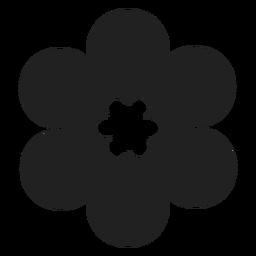 Icono de la flor del monóculo