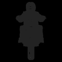 Motorradfahrer Symbol