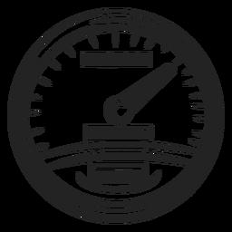 Motorbike speedometer icon