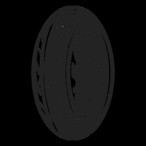 Icono de rueda de moto Transparent PNG