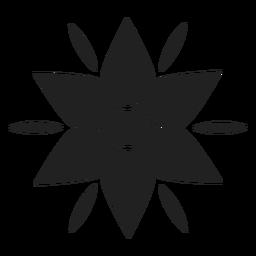 Icono de flor de montaña
