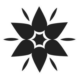 Mountain flower icon