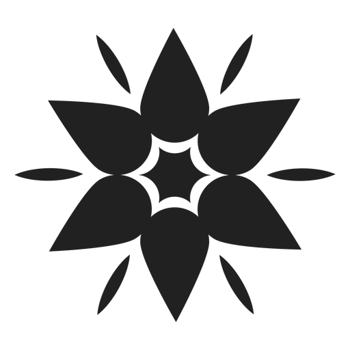 Mountain flower icon Transparent PNG