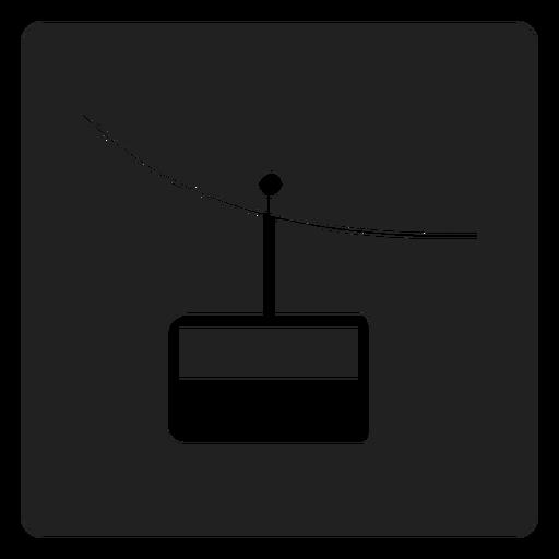Ícone quadrado de teleférico de montanha Transparent PNG