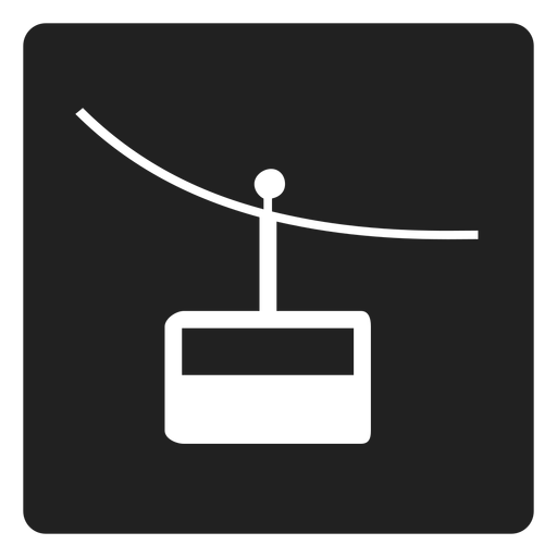 Mountain cable car square icon Transparent PNG