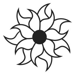 Multi Blütenblatt Blume Symbol