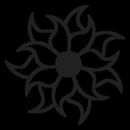 Multi petal flower icon Transparent PNG