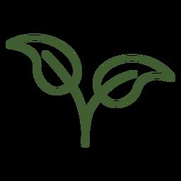 Icono de dos hojas naturales