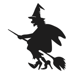 Old witch silhouette