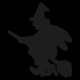 Silhueta de bruxa velha