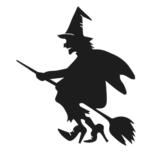 Old witch silhouette Transparent PNG
