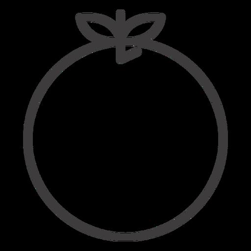Icono de comida naranja trazo Transparent PNG