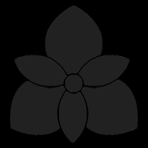 Orchideenblumenikone Transparent PNG