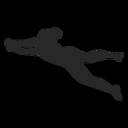 Silhueta de posição de panqueca