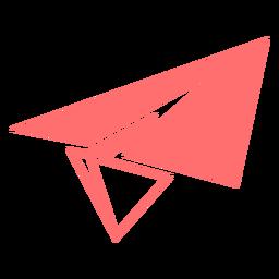 Icono de estilo de línea de avión de papel