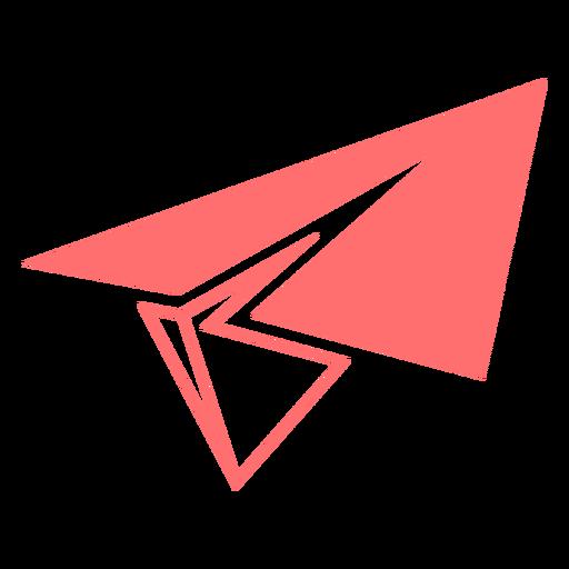 Ícone de estilo de linha de avião de papel Transparent PNG