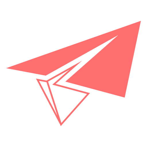 Paper airplane line style icon