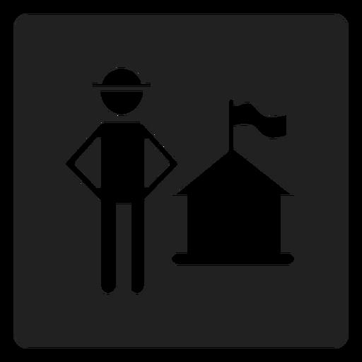 Patriotic house square icon Transparent PNG