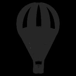 Silueta de globo de aire estampado