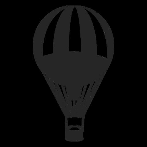 Silhueta de balão de ar padronizada Transparent PNG