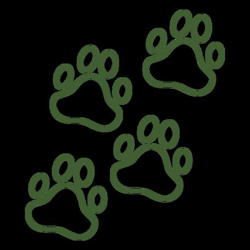 Icono de huellas de pata Transparent PNG