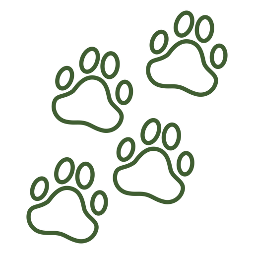 Paw prints icon Transparent PNG