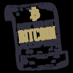 Pague com um crachá aceito bitcoin