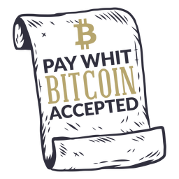 Pay whit bitcoin accepted badge