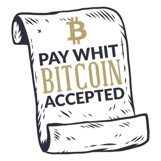 Pay whit bitcoin accepted badge Transparent PNG