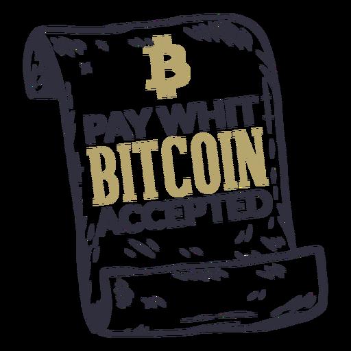 Pay with bitcoin credencial aceptada Transparent PNG