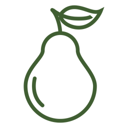 Pear fruit icon pear