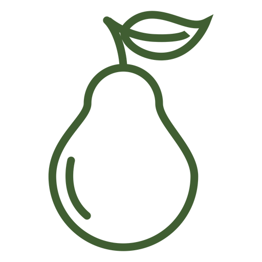 Icono de pera fruta pera Transparent PNG