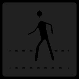 Ícone quadrado pedestre